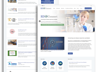 RD-Connect blue page landing frontpage slider directory science