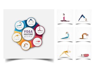 Yoga playful colourful infographic icon human body illustrator illustration yoga