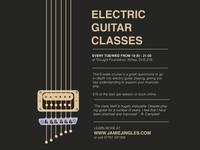 Gitar Classes Flyer