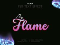 Fire Flame-PSD Text Effect Template 🔥