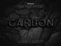 Carbon-PSD Text Effect Template 🎨