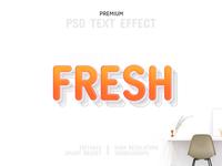 Fresh-PSD Text Effect Template 🎨