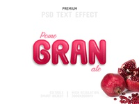 Pomegranate-PSD Text Effect Template 🍅