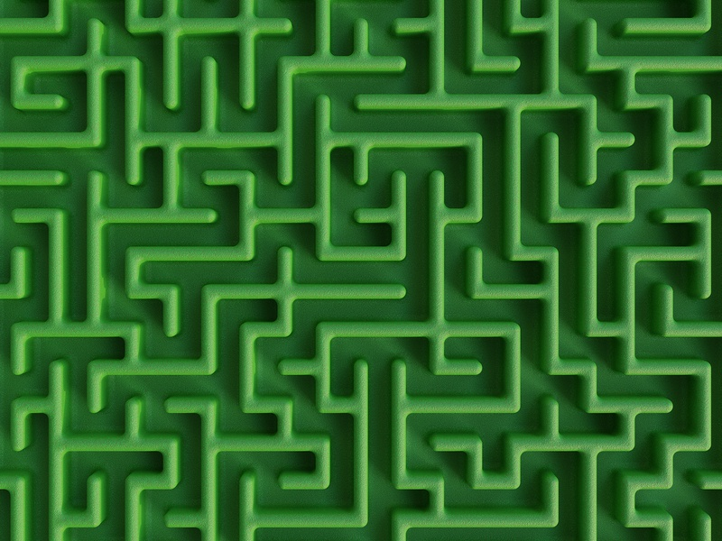 3d Maze with green grass 🌿 grassland 3d modeling green maze 3d art clean creative