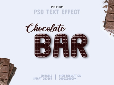 Chocolate Bar Text Effect Template 🍫