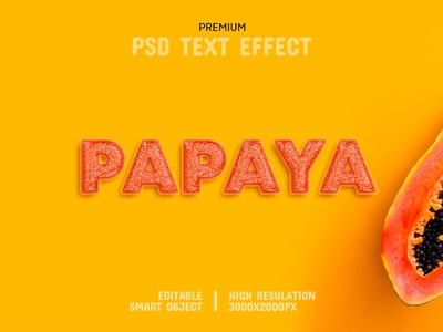 Papaya-PSD Text Effect Template 🍈