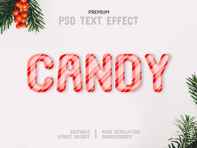 Candy-PSD Text Effect Template 🍭