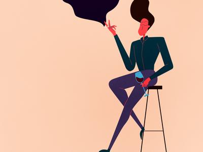 vino photoshop 2d quarentine illustrations illustrator illustration characterdesign design