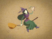 The Witch with a book