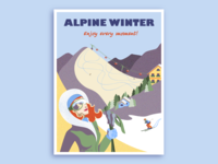 Alpine Winter Poster
