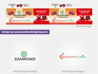 Mahalaxmi Green and Diamond Brand logo | client work
