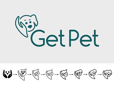 Logo for the Association of animal shelters pet animal icon identity brand logo