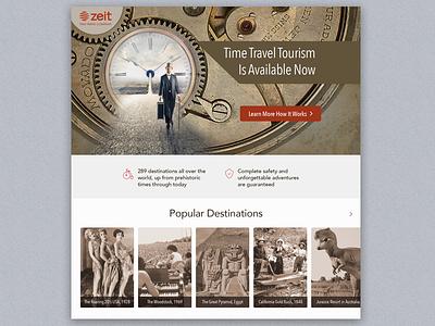 Concept Landing Page dailyui time design ui concept landing page travel
