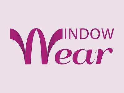 Logo for the Windowear AR shopping app window treatment purple logo identity brand
