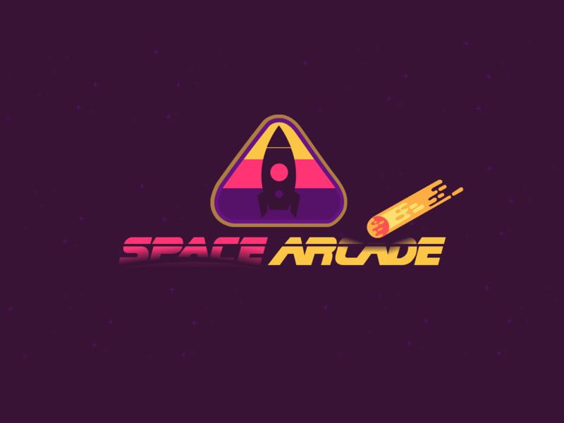 Arcade Logo | Daily Logo Challenge Day 50 retro video games games planets outer space space arcade logo design branding dailylogochallenge
