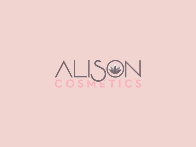 Cosmetics Logo | 30 Day Logo Challenge Day 1 alison cosmetics branding logo design 30daylogochallenge logocore