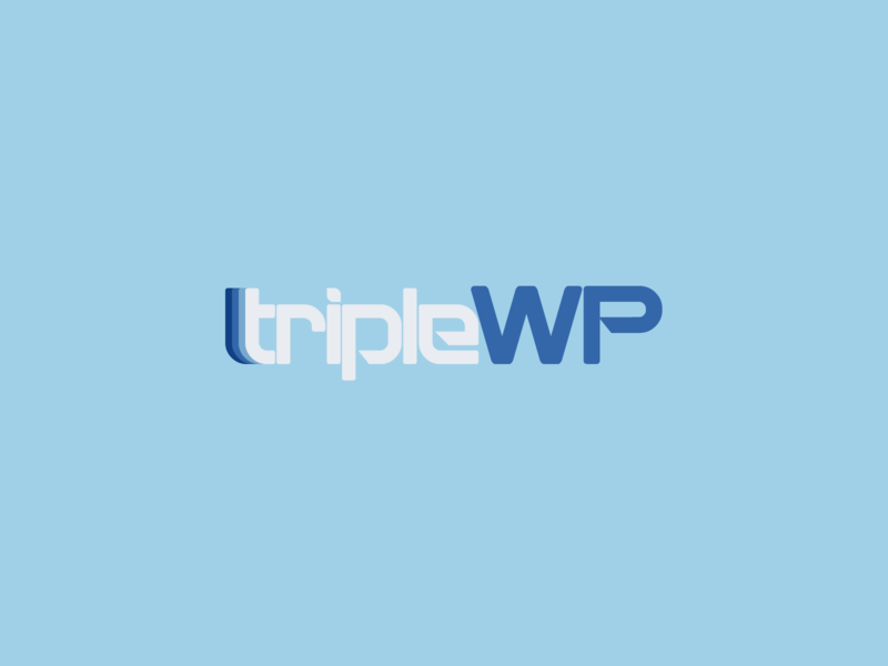 TripleWP Logo | 30 Day Logo Challenge Day 3 logocore website wordpress triplewp logo design branding 30daylogochallenge
