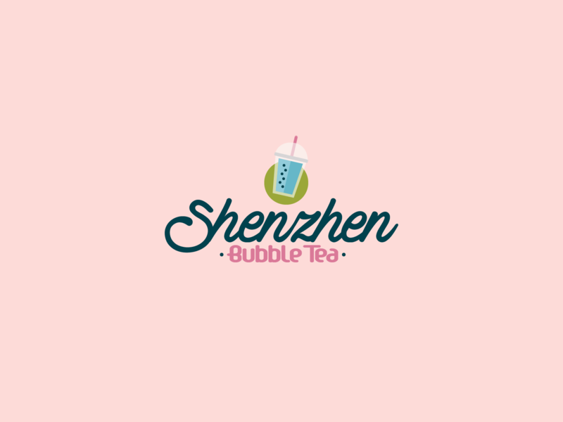 Shenzhen Bubble Tea Logo | 30 Day Logo Challenge Day 8 beverage drink shenzhen bubble tea bubbletea logocore branding design logo 30daylogochallenge