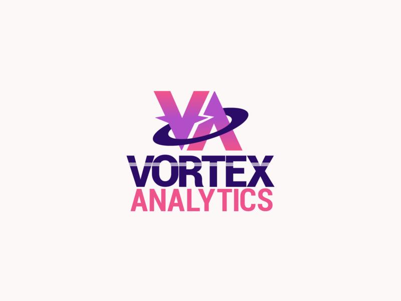 Vortex Analytics Logo | 30 Day Logo Challenge Day 11 graphs charts ux sales data analytics vortex logocore branding design logo 30daylogochallenge