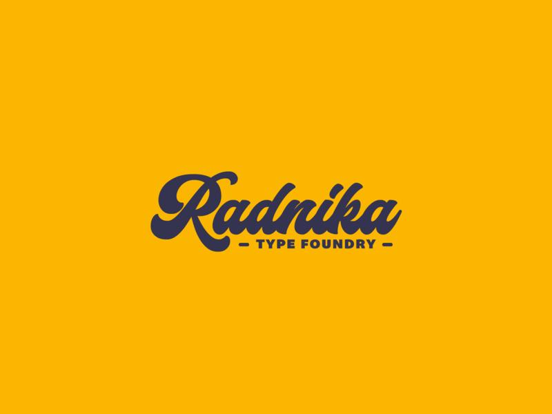 Radnika Foundry Logo | 30 Day Logo Challenge Day 14 typeface lettering font typography type radnika foundry logo branding design logocore 30daylogochallenge
