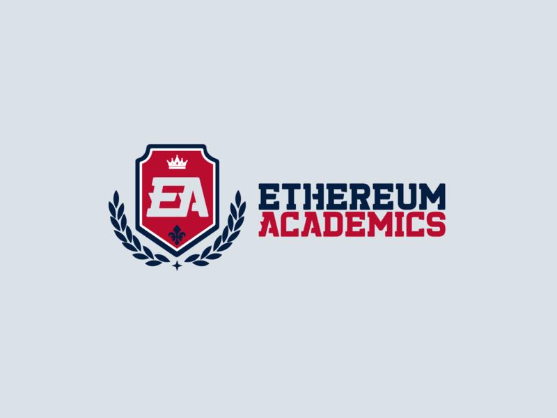 Ethereum Academics Logo | 30 Day Logo Challenge Day 15 computer science academy ethereum online learning academics logo design branding logocore 30daylogochallenge