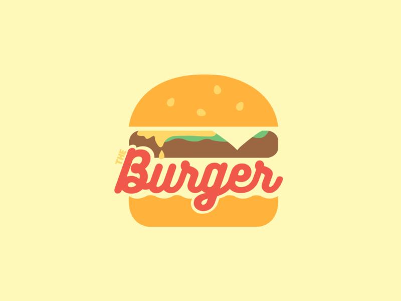 30DaysofLogos Challenge Day 1 - The Burger restaurant theburger burger 30daysoflogos branding logo design