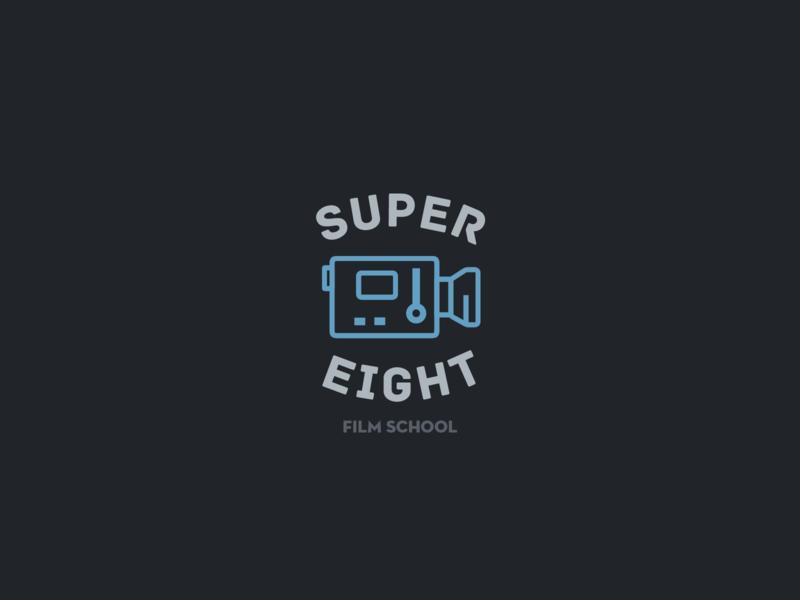 30DaysofLogos Challenge Day 6 - Film School movies school film super8 design logo branding 30daysoflogos