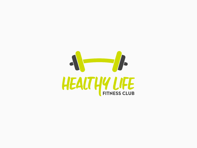 30DaysofLogos Challenge Day 7 - Fitness Club healthy strength weights weightlifting exercise club fitness logos branding design 30daysoflogs