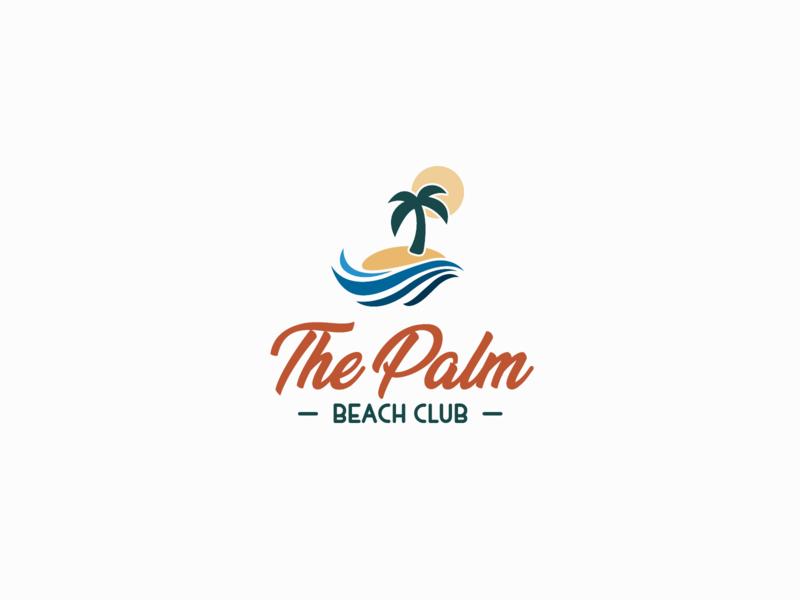 30DaysofLogos Challenge Day 8 - Beach Club resort vacation palmtree thepalm club beach branding design logo 30daysoflogos