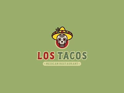30DaysofLogos Challenge Day 25 - Mexican Restaurant restaurant mexican calaca tacos lostacos logo design branding 30daysoflogos