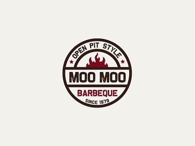 30DaysofLogos Challenge Day 12 - Barbeque Restaurant grill flame bbq moomoo restaurant barbeque branding design logo 30daysoflogos