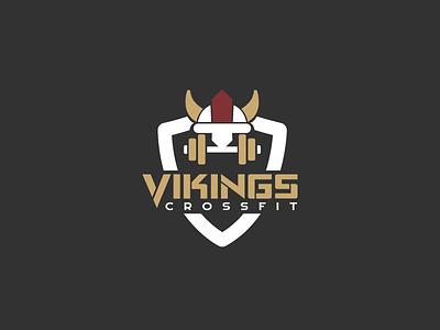 30DaysofLogos Challenge Day 17 - Crossfit Gym vikings viking fitness gym crossfit branding design logo 30daysoflogos