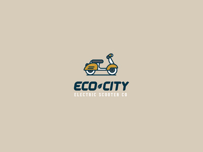 30DaysofLogos Challenge Day 20 - Electric Scooter green city eco scooter electric branding logo design 30daysoflogos