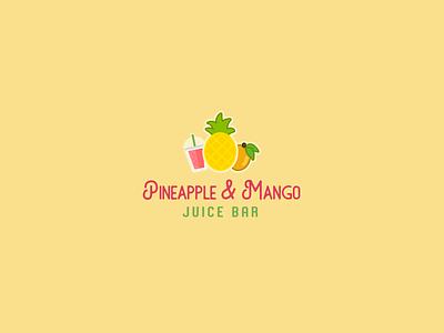 30DaysofLogos Challenge Day 21 - Juice Bar mango pineapple bar juice branding design logo 30daysoflogs