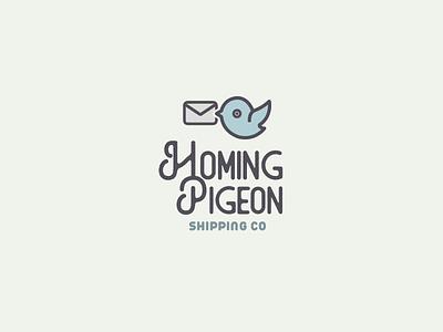 30DaysofLogos Challenge Day 23 - Shipping Company parcel pigeon homing company shipping branding design logo 30daysoflogos