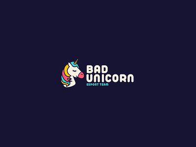 30DaysofLogos Challenge Day 25 - Esport Team unicorn bad team esport branding design logo 30daysoflogos