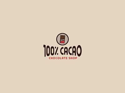 30DaysofLogos Challenge Day 27 - Chocolate Shop chocolatebar candy cacao shop chocolate branding logo design 30daysoflogos
