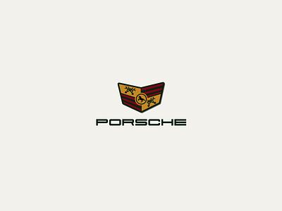 30DaysofLogos Challenge Day 28 - Rebrand Porsche Logo redesign rebrand car luxury porsche branding design logo 30daysoflogos