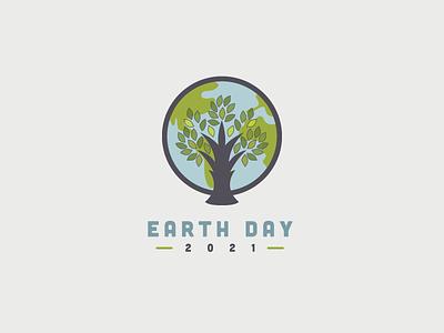 Earth Day 2021 | Dribbble Weekly Warm-Up graphic design logo planet tree 2021 day earth earthday dribbbleweeklywarmup