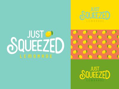 Just Squeezed Lemonade | Weekly Warm-Up dribbbleweeklywarmup pattern lemons lemon squeezed just lemonade branding design logo