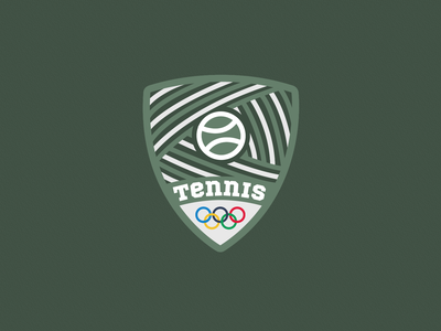 Tennis Summer Olympics Sport Badge | Dribbble Weekly Warm-Up graphic design tennis ball sports sport summer olympics tennis branding design logo