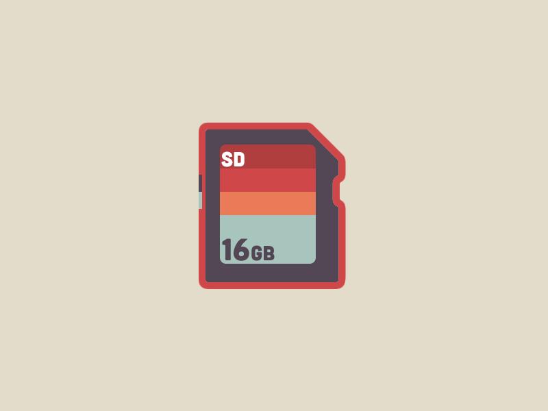SD Card | Digital Data Storage Series secure digital icon storage data digital sd sd card