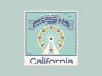 Santa Monica Stamp | Weekly Warm-Up