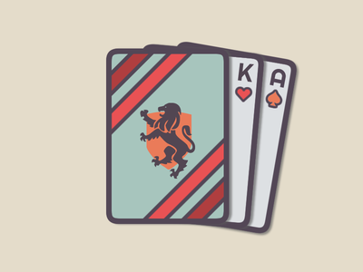 Custom Playing Cards | Weekly Warm-Up lion jack queen ace king playing cards deck dribbbleweeklywarmup logo design vector icon long live the king