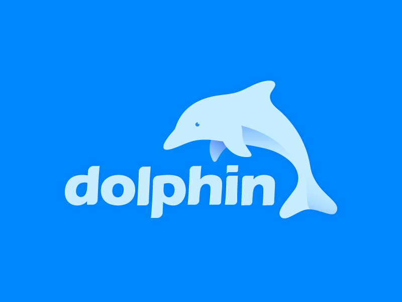 Dolphin with Text behance adliqi color illustrator adobe animal gradient design logo