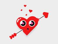 When Love Strike - Vector Illustration