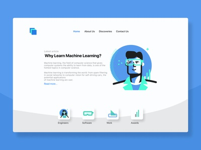 Data UI Design and Data Vector Illustrations engineer landing page interface simple uidesign vector illustrations mockup sketch adobe xd figma ux ui ui design learning science data analysis data science database data