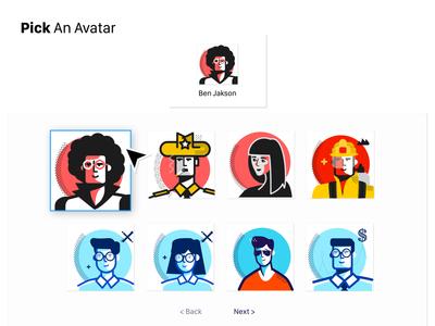 Avatars - Vector Illustrations interface ux ui retro art design simple money business student woman men cool illustrations icons mascot character faces portrait avatar