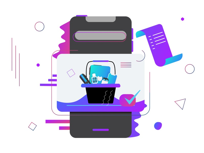 Apple Goodies - Vector Illustration shopping hero web icons graphics app ios apple airpods iphone animation branding ux design ui website vector illustration
