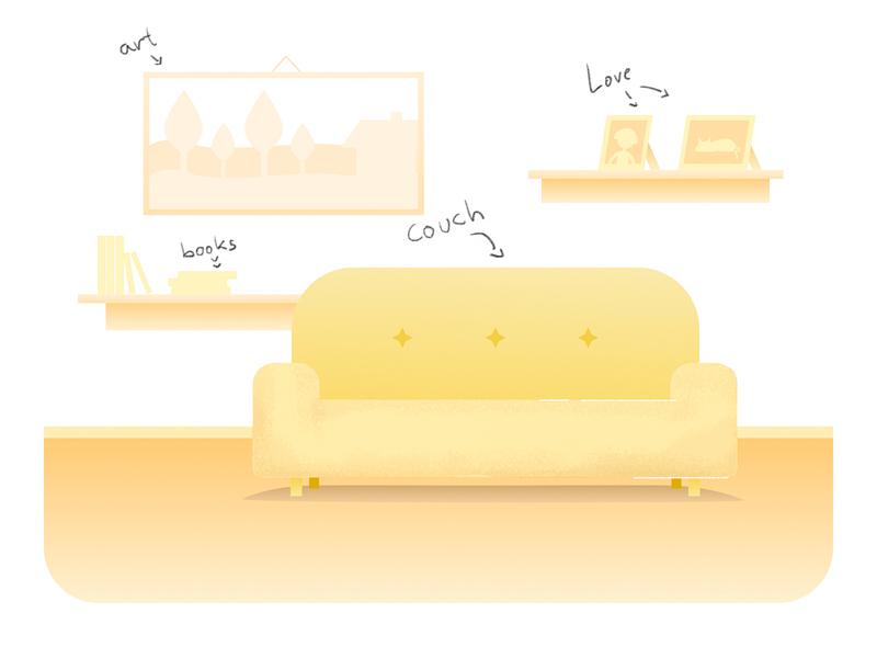 Livingroom - Vector home room rooms vector illustrations web illustrations product design ux ui stay at home app web illustrator illustration artist art mockup libraries sketch vector livingroom